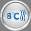 Поддерживание температуры 8 градусов в помещении при работе на «Тепло».
