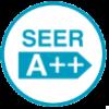 Класс энергоэффективности SEER (A++).