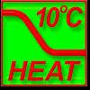 Поддержание +10° в режиме обогрева.