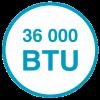 Сверхмощная  модель 36 000  BTU.