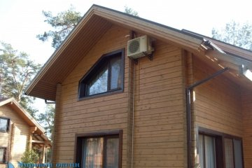 Установка кондиционера Daikin FTX25JV/RX25JV в деревянный дом (7 фото)